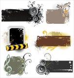 Bandeiras de Grunge Imagem de Stock