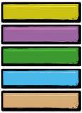 Bandeiras de Grunge Fotos de Stock Royalty Free