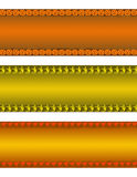 Bandeiras de Halloween Imagens de Stock