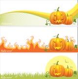 Bandeiras de Halloween Foto de Stock