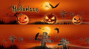 Bandeiras de Halloween Fotografia de Stock