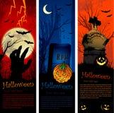 Bandeiras de Halloween Fotos de Stock Royalty Free