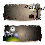Bandeiras de Halloween Imagem de Stock