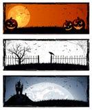 Bandeiras de Halloween Foto de Stock Royalty Free