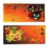 Bandeiras de Halloween ajustadas Fotografia de Stock Royalty Free