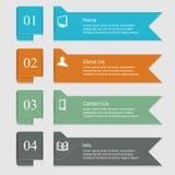 Bandeiras de Infographic Fotos de Stock