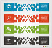 Bandeiras de Infographic Foto de Stock Royalty Free