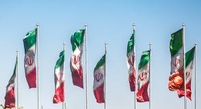 Bandeiras de Irã imagem de stock royalty free
