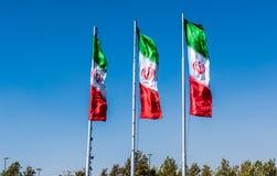 Bandeiras de Irã imagem de stock