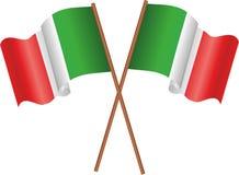 Bandeiras de Italia Fotografia de Stock