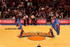 Bandeiras de Knicks Fotografia de Stock Royalty Free