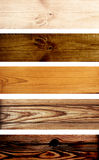 Bandeiras de madeira Imagem de Stock