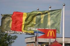 Bandeiras de McDonalds fotos de stock