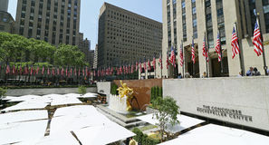 Bandeiras de Memorial Day em Rockefeller Centerl Fotos de Stock Royalty Free