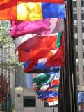 Bandeiras de muitas cores Imagem de Stock Royalty Free