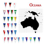 Bandeiras de Oceania Fotografia de Stock Royalty Free