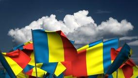 Bandeiras de ondulação de Andorra