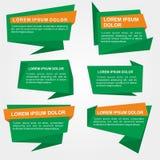 Bandeiras de Origami Imagem de Stock