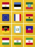 Bandeiras de país Imagens de Stock