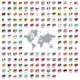 Bandeiras de país ilustração royalty free