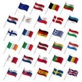 Bandeiras de país 2017 da União Europeia, UE dos Estados-membros ilustração stock