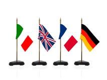Bandeiras de país de Europa Fotografia de Stock Royalty Free