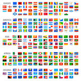 Bandeiras de país do mundo do vetor ajustadas Fotos de Stock Royalty Free