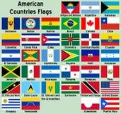 Bandeiras de países americanas ilustração stock