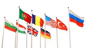 Bandeiras de países diferentes Foto de Stock