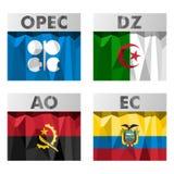 Bandeiras de países do OPEC Fotografia de Stock