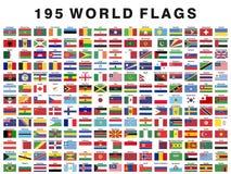 Bandeiras nacionais de pa?ses diferentes imagem de stock royalty free