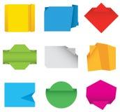 Bandeiras de papel. ilustração stock