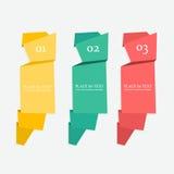 Bandeiras de papel coloridas e decoradas Fotos de Stock