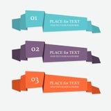 Bandeiras de papel coloridas e decoradas Foto de Stock Royalty Free