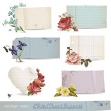 Bandeiras de papel florais Fotos de Stock Royalty Free