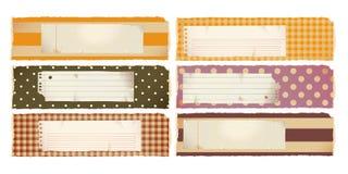 Bandeiras de papel - horizontais Imagens de Stock Royalty Free