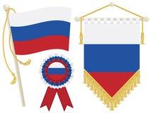 Bandeiras de Rússia Fotografia de Stock
