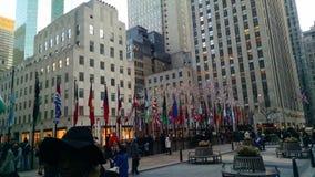 Bandeiras de Rockefeller Fotos de Stock Royalty Free