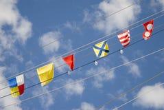 Bandeiras de sinais Fotografia de Stock Royalty Free