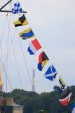 Bandeiras de sinal fotos de stock