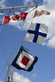 Bandeiras de sinal dos navios Imagem de Stock