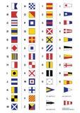 Bandeiras de sinal marítimas ilustração royalty free