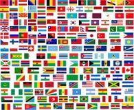 Bandeiras de todos os países do mundo Foto de Stock