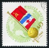 Bandeiras de URSS fotografia de stock