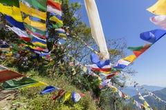 Bandeiras de voo da oração imagem de stock