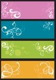 Bandeiras decorativas ilustração stock