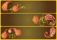 Bandeiras decorativas Imagens de Stock