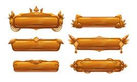Bandeiras decorativas bonitas do título do metal ilustração do vetor