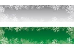 Bandeiras decorativas do Natal com flocos de neve imagens de stock