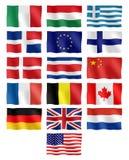 Bandeiras diferentes ilustração do vetor